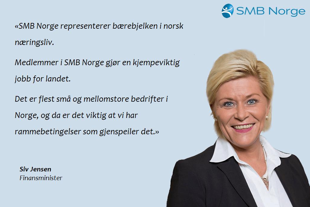 SMB Norge - Siv Jensen