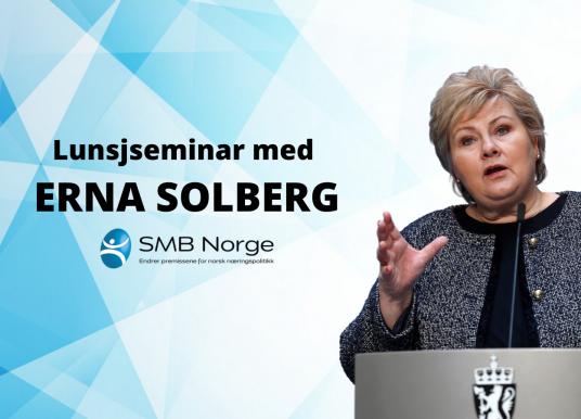 SMB Seminaret med Erna Solberg